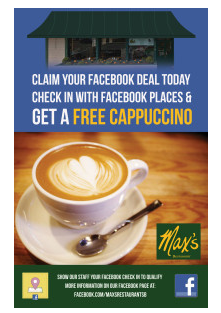 Check In Offers- Max Restaurant